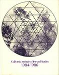California Institute of Integral Studies -- Catalog 1984-1986