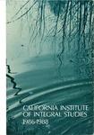 California Institute of Integral Studies -- Catalog 1986-1988