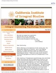 Integral Counseling Psychology Newsletter